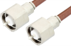 LC Male to LC Male Cable 84 Inch Length Using RG393 Coax, RoHS -- PE33539LF-84 -Image