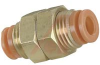 BULKHEAD UNION, PNEUMATIC, 1/2IN. OD TUBE -- 70070405 - Image