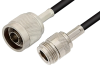 N Male to N Female Cable 48 Inch Length Using RG223 Coax -- PE3667-48 -Image