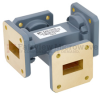 50 dB WR-75 Waveguide Crossguide Coupler with Square Cover Flange from 10 GHz to 15 GHz in Copper Alloy -- FMWCP1054 -Image