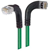 Category 5E Shielded Right Angle Patch Cable, Right Angle Right/Right Angle Down, Green 30.0 ft -- TRD815SRA10GR-30 -Image