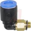 Fitting;Elbow-Male;Tube 6 mm;Port 5 mm;Plastic;KQ Series -- 70071902