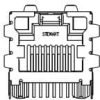 Modular Connectors / Ethernet Connectors -- SI-52008-F -Image