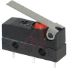Switch, Sealed Snap Action, 10A @ 250V,BLACK BUTTON, SHORT Solder TerminalS -- 70207550