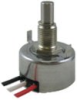 HRS100 Series Hall-effect rotary position sensor, slotted shaft, flying wire leads, 90° electrical angle -- HRS100SWAB090 - Image
