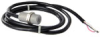 103SR Series Latching Hall-Effect Digital Position Sensor with 15/32-32 UNS-2A cylindrical aluminum threaded housing; two hex nuts; 1000 mm [40.0 in] 22-gauge PVC insulated conductor cables with black -- 103SR17A-2 - Image