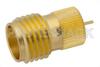 SMA Female Connector Solder Attachment Press-In Mount Tab Terminal, .200 inch Diameter -- PE44240 -Image