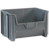 19 7/8in x 15 1/4in x 12 7/16in Gray Giant Stackable Bins -- BING112