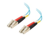 2m 10 Gb LC/LC Duplex 50/125 Multimode Fiber Patch Cable TAA Compliant - Aqua -- 11001