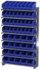 Akro-Mils 400 lb Blue Gray Powder Coated Steel 16 ga Single Sided Fixed Rack - 36 3/4 in Overall Length - 50 Bins - Bins Included - APRSAST BLUE -- APRSAST BLUE - Image