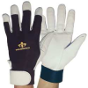 Anti-Vibration Gloves,Black/White,L,Full -- 6WPG1