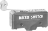 BZ Series Standard Basic Switch, Single Pole Double Throw Circuitry, 15 A at 115 Vac, Flexible Roller Actuator, Screw Termination, Silver Contacts -- BZ-2RL2T04