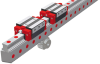 Monorail BZ Profiled Guideway with Integrated Racks -- BZ / BME 25 - Image