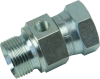 BSPP Male x BSPP Female Swivel Adapter with Gauge Port - Image
