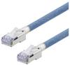 Category 5e Aerospace Ethernet Cable High-Temp SF/UTP FEP Blue RJ45, 10.0ft -- T5A00018-10F -Image