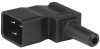 IEC Plug I, Cord Connector (Rewireable), Angled