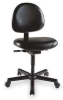 Chair,Cleanroom,39H,Black,Vinyl -- 4YCU9