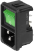 IEC Appliance Inlet C14 with Line Switch 2-pole