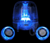 Logisys Blue LED Clear Acrylic Computer Speakers -- 16418