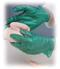 Ambi-dex Green Vinyl Industrial Grade Gloves -- sf-19-121-204A - Image