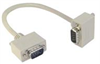 Deluxe Molded D-Sub Cable, DB9 Male / Right Angle Exit 4 Male, 2.5 ft -- CSMNRA9-4MM-2.5 -Image