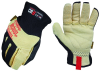 Mechanix Wear CFF-505 Black 8 Grain Armorcore/Fiberglass/Kevlar/Leather Mechanic's Gloves - EVA Foam/Silicone Knuckles & Dotted Fingers Coating - 781513-62052 -- 781513-62052