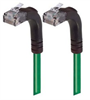 Category 5E Right Angle Patch Cable, Right Angle Up/Right Angle Up, Green 5.0 ft -- TRD815RA5GR-5 -Image