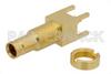 1.0/2.3 Jack Bulkhead Mount Connector Solder Attachment Thru Hole PCB, .220 inch Diameter -- PE44259 - Image