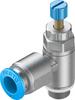One-way flow control valve -- GRLA-1/8-QS-8-RS-D -Image