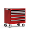 R Mobile Cabinet, with Partitions, 4 Drawers (36