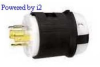 Locking Plug Black/White 20A 120/208V 3+Y 3P -- 78358503835-1 - Image