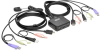 2-Port USB/HD Cable KVM Switch with Audio/Video, Cables and USB Peripheral Sharing -- B032-HUA2
