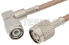 TNC Male to TNC Male Right Angle Cable 24 Inch Length Using RG142 Coax -- PE33867-24 -Image