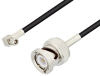 SMC Plug Right Angle to BNC Male Cable 60 Inch Length Using RG174 Coax -- PE3C1988-60 -Image