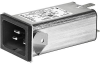 IEC Appliance Inlet C20 with Filter, Front or Rear Side Mounting