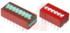 Switch, DIP; 0.480 in. L x 0.380 in. W x 0.245 in. H; 4; SPST; Thru-Hole -- 70216691 - Image