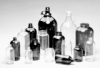 BOTTLES - Safety, Plasticol Coated, Clear, Narrow Mouth, Boston Round, with Closures Attached, LabBest, 32, 33-400, PV -- 1142391