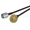 NMO/TAD Mobile Mount to RP-TNC Plug, Pigtail 10 ft 195-Series -- CA-AM1RTPA010