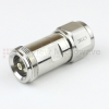 4.1/9.5 Mini DIN Female (Jack) to N Male (Plug) Adapter IP67 Mated, Tri-Metal Plated Brass Body, 1.25 VSWR -- SM4429 - Image