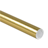 "2"" x 36"" Gold - Mailing Tubes with Caps -- P2036GO"