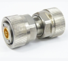 Precision N Male (Plug) to 7mm Adapter, Passivated Stainless Steel Body, 1.15 VSWR -- SM3365 - Image