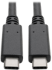 USB 3.1 Gen 2 (10 Gbps) Cable with 5A Rating, USB-C to USB-C (M/M), 3 ft. -- U420-003-G2-5A