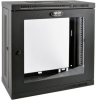 SmartRack 12U Very Low-Profile Patch-Depth Wall-Mount Rack Enclosure Cabinet with Clear Acrylic Window -- SRW12U13G -- View Larger Image