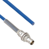 Halogen Free Cable Assembly TRB Non-Insulated Bulk Head 3-Lug Cable Jack with Bend Relief to Blunt MIL-STD-1553 .242