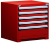 Heavy-Duty Stationary Cabinet (with Compartments), 5 Drawers (30