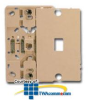 Suttle 6-Conductor Plastic Wallplate with Screw Terminals.. -- 630AP6
