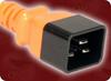 IEC-60320-C20 ORANGE to IEC-60320-C19 ORANGE HOME • Power Cords • IEC/Jumper Power Cords • Domestic -- 5281.060O -Image