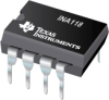 INA118 Precision, Low Power Instrumentation Amplifier -- INA118U/2K5G4 -Image