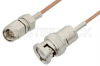 SMA Male to BNC Male Cable 72 Inch Length Using RG178 Coax -- PE33258-72 -Image