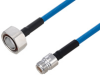 Plenum 7/16 DIN Male to N Female Low PIM Cable 12 Inch Length Using SPP-250-LLPL Coax Using Times Microwave Parts -- PE3C6190-12 -- View Larger Image